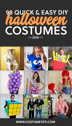 This is the holy grail for unique and easy DIY Halloween costume ideas for 2016! Love it.