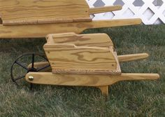 Small Amish Decorative Wheelbarrow - Yellow Pine Or Red Cedar