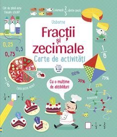 Fractions and Decimals Activity Book (Usborne Math Sticker Activity Books) Fractions, Multiplication, Lori Nelson Spielman, Subtraction Activities, Rainbow Resource, Math Books, Children's Books, Maths Puzzles, Fun Math