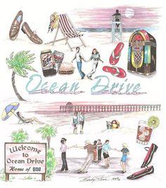 Ocean Drive, SC, home of the shag