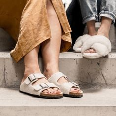 we long for the summer 🌻 sandals in wool and open slippers 💛 all from Summer Sandals, Birkenstock, Slippers, Wool, Inspiration, Shoes, Fashion, Sneaker, Biblical Inspiration