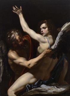 "Dédalo e Ícaro"", Orazio Riminaldi, c.1625 (Wadsworth Atheneum Museum of Art, Hartford)."