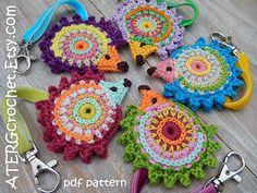Crochet adornos de HEDGEHOG de patrón por por ATERGcrochet en Etsy