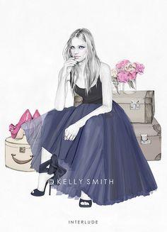 Fashion Illustration: Interlude by Kelly Smith