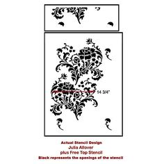 Julia Allover Stencil Pattern Reusable by CuttingEdgeStencils