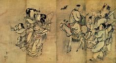 Shop for framed Painting of the Nineteen Iimmortals II by Unknown. Korean Painting, Chinese Painting, Korean Art, Asian Art, Old Paintings, Painting Frames, Art History, Vintage World Maps, Fine Art Prints