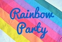 Inspiration for a rainbow party!