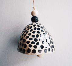 Ceramic jingle bell by GungaCeramics on Etsy