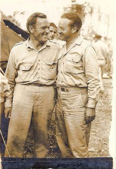 Bob Hope touring near the combat zone in WWII New Guinea.