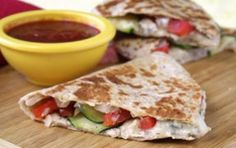 Hey Mambo! Veggie Italiano Quesadilla by Hungry Girl...using Laughing Cow Cheese Wedges