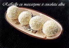 Bomboane Raffaello cu mascarpone si ciocolata alba • Retetele mele dragi Food And Drink, Sweets, Sugar, Eat, Cooking, Gluten, Rainbow, Cakes, Sweet Treats