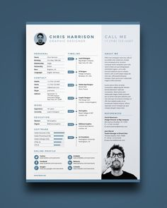 Free Resume is a one page resume template you can download for FREE. This simple, clean and functional single page design is the zero cost way to build a professional looking creative resume. Included in the page template are areas for your profile, personal information, an experience timeline, skills chart, references, social media icons and …