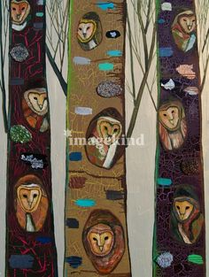 Barn Owl Family Portrait   Eli Halpin