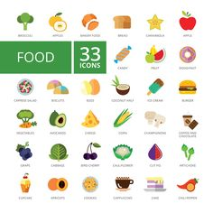 Food icons set by RedlineVector on @creativemarket