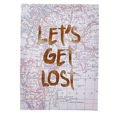 Design House Canvas Art Let's Get Lost 40cm x 55cm