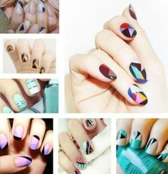 Get the trend: Geometrical Nail Art