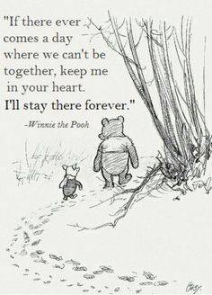 Wisdoms of the Pooh Bear: I think we dream so we don't have to be apart for so long. If we're in each other's dreams, we be together all the time. ~ Winnie the Pooh Cant Be Together, Winnie The Pooh Quotes, Tao Of Pooh Quotes, Life Of Pi Quotes, Pooh Winnie, Smile Quotes, My Sun And Stars, Pooh Bear, Beautiful Words