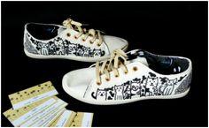 Idylla - ręcznie malowane tenisówki #shoes #painted #cats #funky
