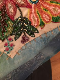 By artist Jaime Morse Hand Painted Canvas, Beads, Detail, Sweet, Floral, Artist, Artwork, Painting, Inspiration