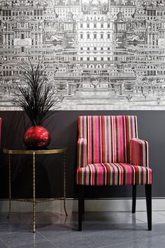 Fornasetti wallpaper Riflesso by Cole & Son