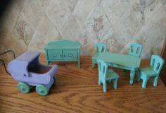 Vintage LOT Of Dollhouse Furniture Wood, Etc. Doll House Furniture | EBay