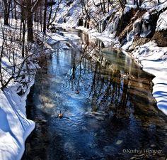 Winter On Walnut Creek by kweaver2, via Flickr
