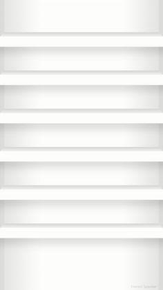 iPhone 6 用壁紙 棚 白