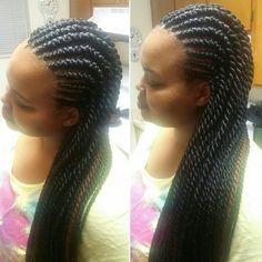 ghana braids - ghana weaving - banana braids - senegalese twists - rope twists - twists - braids #braidsbyguvia