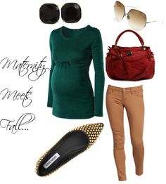 """""""Maternity Meets Fall"""" by styledeffortlessly on Polyvore"""
