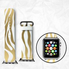 Handmade Apple Watch Strap 38/42mm - Zebra (BBSW007)