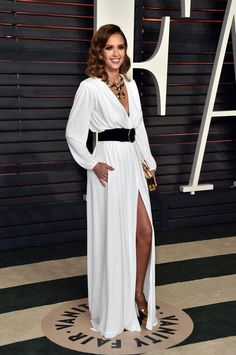 28ed3bcb5e8 Pin for Later  Don t Miss 1 Single Look From the Oscars Afterparties Jessica  Alba Wearing a Roberto Cavalli gown