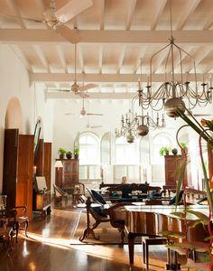 Interior del Resort Amangalla en Galle, Sri Lanka