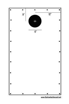corn hole board layout