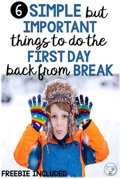The first day back from a break can be difficult in the elementary classroom, especially a long break like winter … Elementary Education Activities, Teaching Strategies, Hands On Activities, Winter Activities, Kindergarten Activities, Teaching Tips, Elementary Schools, Elementary Teaching, Upper Elementary