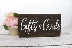 Gifts & Cards Wooden Wedding Sign - Rustic Wedding Signs - (WD-2) on Etsy, $14.99