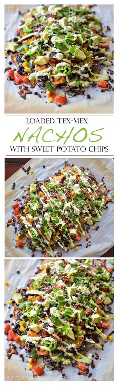 Loaded Tex-Mex Nachos with Sweet Potato Chips   www.cookingandbeer.com   Cooking and Beer