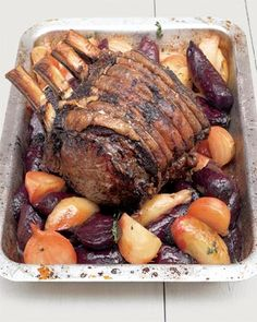 David Loftus roast fore rib of beef with beetroot and horseradish
