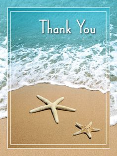 Beachy Thank You Card