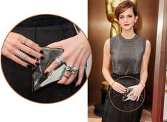 Emma+Watson+Opted+paired+white+and+black+diamond+rings+at+Oscars+2014