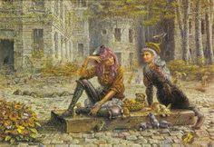 Otto Frello.. Maleriet med sommerfugle der bevæger sig!