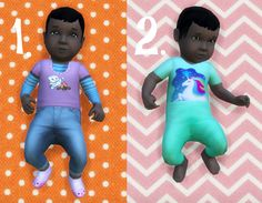 It's all about clutter, Baby Overrides: Set 13 - Dark Skin/Girl + Long...
