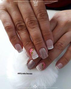 39 Ideias de Unhas decoradas com Rosas Nail Spa, Nail Arts, Nail Designs, Hair Beauty, Mix, Rose, Style, Short Nails Art, Hand Designs