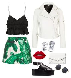 """Untitled #71"" by catiasofiaafonso on Polyvore featuring Dolce&Gabbana, Tod's, Topshop, Alexander Wang, LULUS and Lime Crime"
