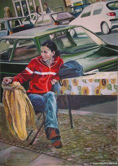 Bergmannstraße I | Acryl auf Leinwand 100 x 120 cm | 2007