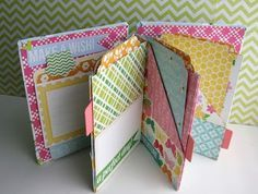 (Instead of a card, create one of these for a friend with encouragement tucked in pockets.)  Quick Mini Albums - Two Peas in a Bucket