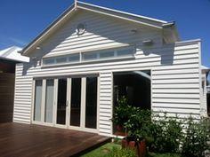 white weatherboard cottage google search house colours pinterest. Black Bedroom Furniture Sets. Home Design Ideas
