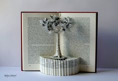 Book Paper Art Sculpture Tree of Life by MalenaValcarcel on Etsy