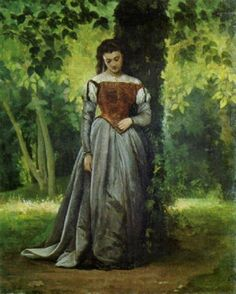 Ancona, Vito d', (1825-1884), Signora nel Parco, 1867, Oil