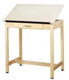 "Diversified Woodcrafts DT-1A37 36 x 24 x 36 Art-Drafting Table by Diversified Woodcraft. $892.35. Freight Class: 85.. Dimensions: 36W x 24D x 36H.. Cubes: 6.. Top: Plastic Laminate.. Shain Drawing Table - This model features a one piece 36""W x 24""D adjustable drawing surface with soft close feature and an 18""W x 20.5""D x 2""H center drawer. Unit constructed of solid maple with 2-1/4"" maple legs. Units are finished with an earth friendly UV finish. Top: Plastic La..."