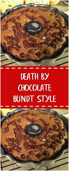 Death By Chocolate Bundt Style #whole30 #foodlover #homecooking #cooking #cookingtips